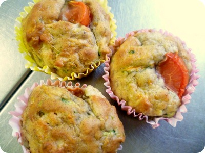 courgette carrot cheese muffins