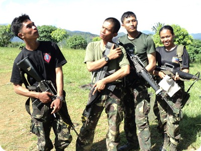 light moments with the boys after a field exercise
