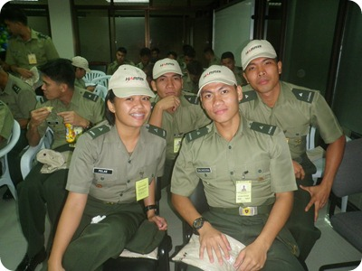 student officers during our career courses