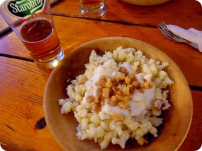 Bryndove halusky: Slovak dumplings with sheep cheese and bacon